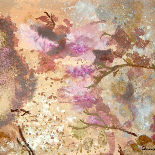 cuadro abstracto con textura