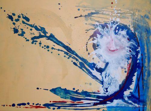 cuadro abstracto en acrilico texturado 119