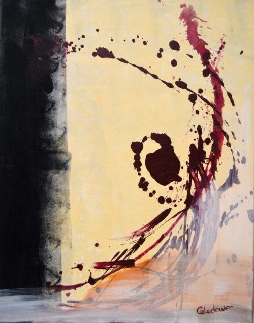 cuadro abstracto pintado a mano 113