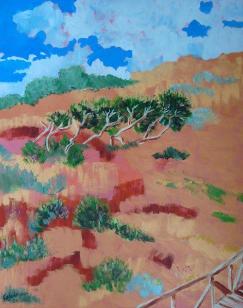 cuadro acrilico de paisaje 124