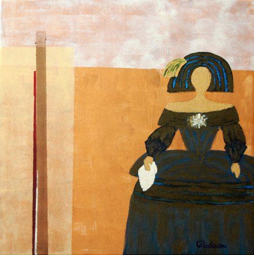 cuadro de figura humana abstracto 114