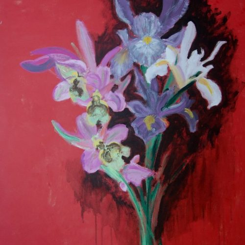 cuadros de flores en acrilico 121
