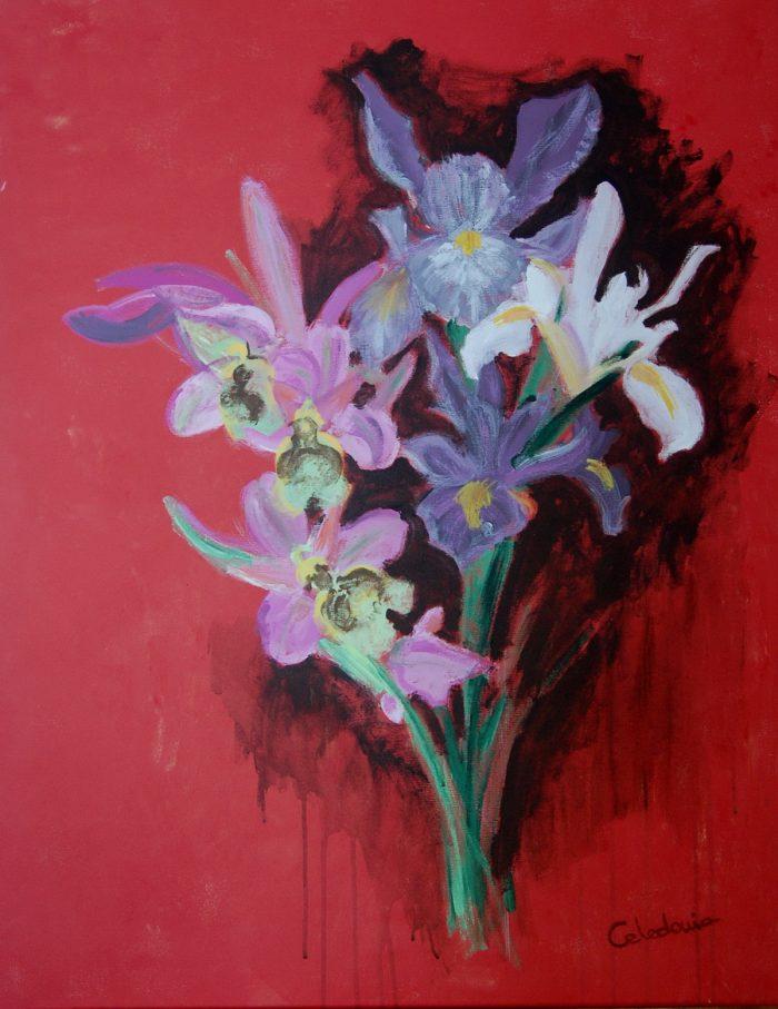 Cuadros De Flores En Acrilico Ramo De Lirios Artceledonia