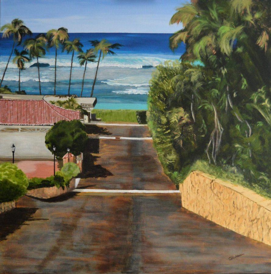 cuadros originales de playa waikiki 150